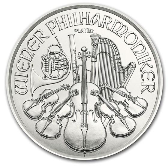 2020 Austria 1/25 oz Platinum Philharmonic BU