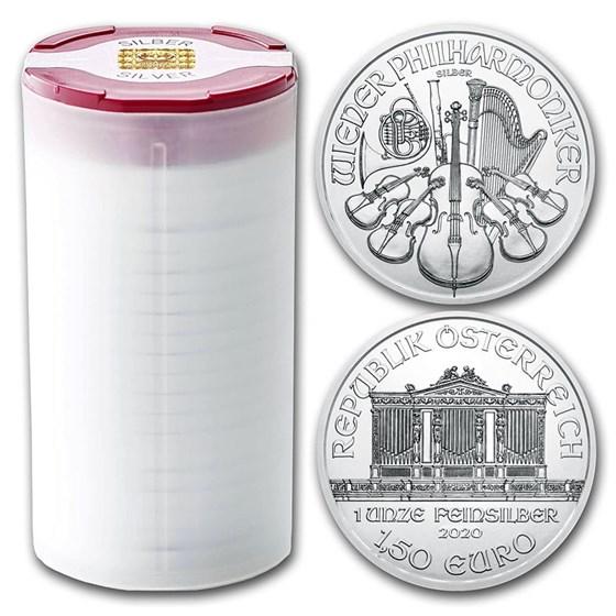 2020 Austria 1 oz Silver Philharmonic BU (Tube of 20)