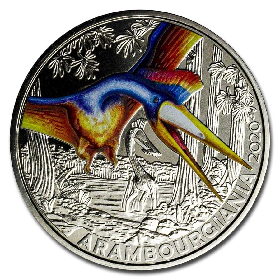 2020 Austria Cupro-Nickel €3 Colorful Supersaurs (Arambourgiania)