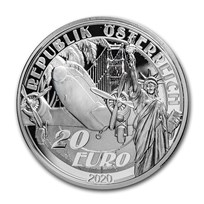 2020 Austria Silver €20 Reaching for the Sky: Above the Clouds