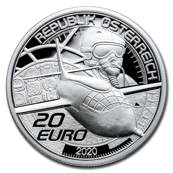 2020 Austria Silver €20 Reaching for the Sky: Faster than Sound