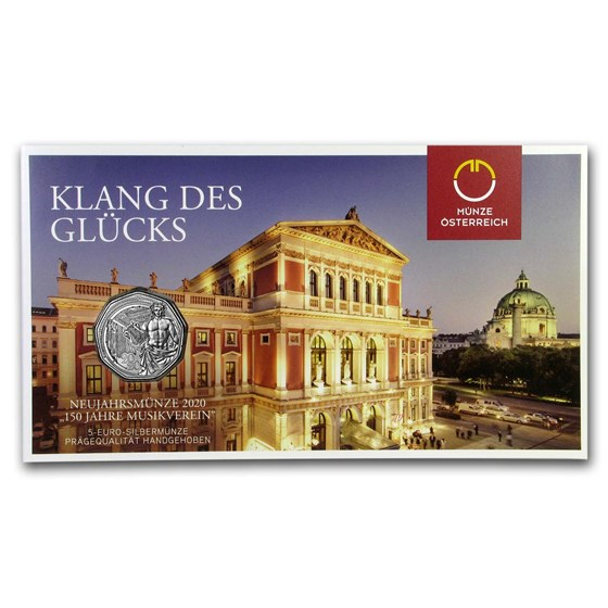 2020 Austria Silver €5 New Year's 150th Anniversary Musikverein