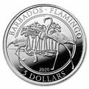 2020 Barbados 1/4 oz Platinum Flamingo BU (w/Box & COA)