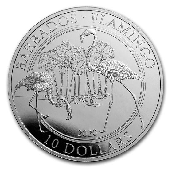 2020 Barbados 1 oz Platinum Flamingo BU (w/Box & CoA)