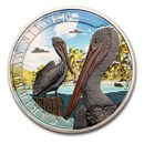 2020 Barbados 1 oz Silver and 1 gram Gold Tropical Pelican Set