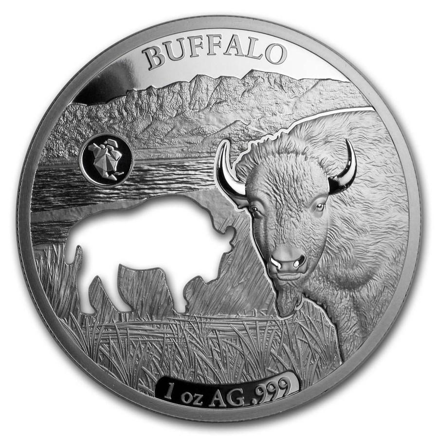 2020 Barbados 1 oz Silver Shapes of America (Buffalo)