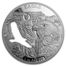 2020 Barbados 1 oz Silver Shapes of America (Eagle)