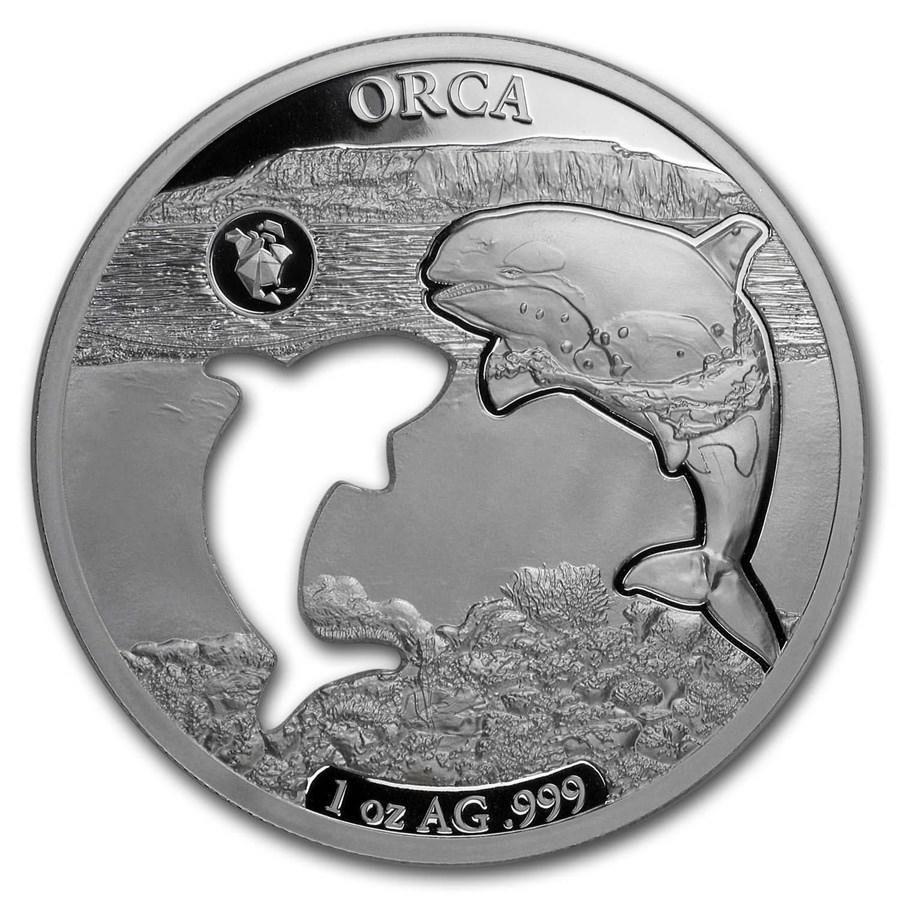 2020 Barbados 1 oz Silver Shapes of America (Orca)