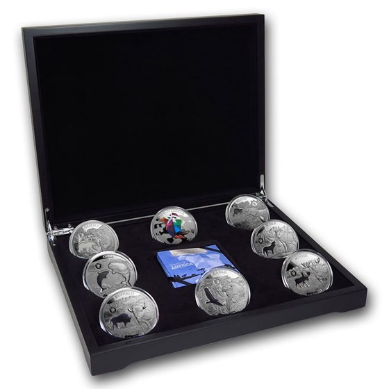 2020 Barbados 8-Coin Silver Shapes of America Set