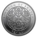 2020 Bhutan 1 oz Silver Lunar Rat BU
