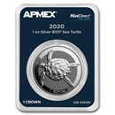 2020 BIOT 1 oz Silver Sea Turtle (MintDirect® Premier)