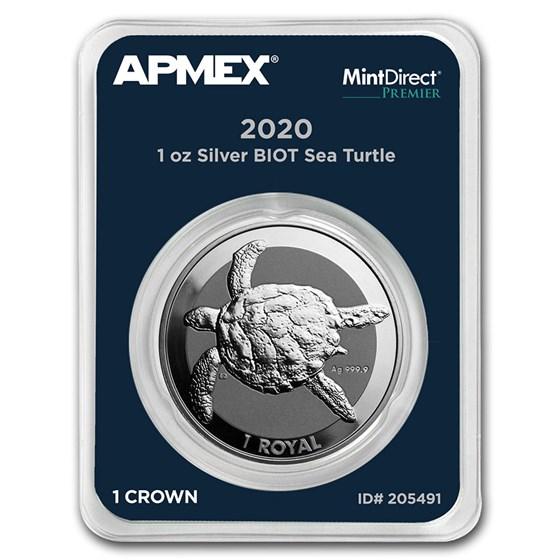 2020 BIOT 1 oz Silver Sea Turtle (MintDirect® Premier)