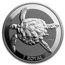 2020 British Indian Ocean Territory 1 oz Silver Sea Turtle BU