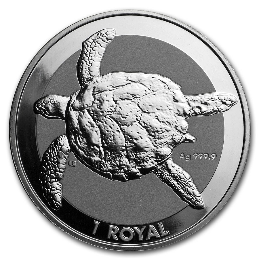 2020 British Indian Ocean Territory 1 oz Silver Sea Turtle BU