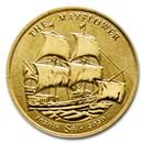 2020 BVI 1/2 gram Gold Mayflower 400th Anniv Reverse Frosted