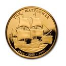 2020 BVI 1 oz Gold Mayflower 400th Anniversary BU