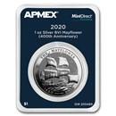 2020 BVI 1 oz Silver Mayflower 400th Anniv (MintDirect® Premier)