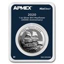 2020 BVI 1 oz Silver Mayflower 400th Anniv (MintDirect® Single)