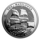 2020 BVI 1 oz Silver Mayflower 400th Anniversary BU