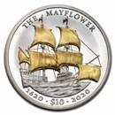 2020 BVI 2 oz Gold Gilded Silver UHR Mayflower 400th Anniversary