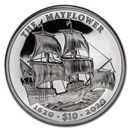 2020 BVI 2 oz Silver UHR Mayflower 400th Anniversary