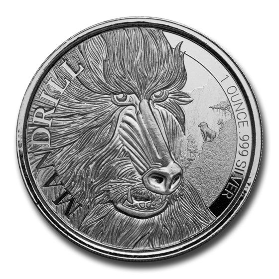 2020 Cameroon 1 oz Silver Mandrill BU