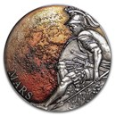 2020 Cameroon 3 oz Antique Silver Planets and Gods; Mars