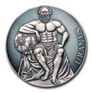 2020 Cameroon 3 oz Antique Silver Planets and Gods; Uranus