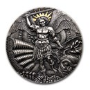 2020 Cameroon 3 oz Silver Apocalypse: St. Michael and the Dragon