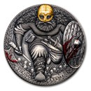 2020 Cameroon 3 oz Silver Legendary Warriors: Viking Axeman