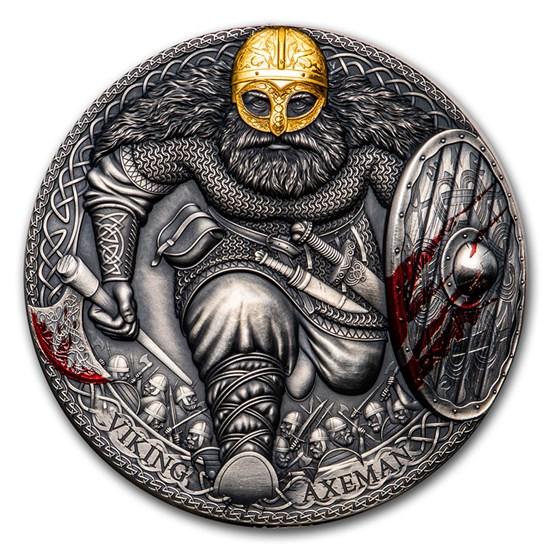 2020 Cameroon 3 oz Silver Legendary Warriors: Viking Axeman