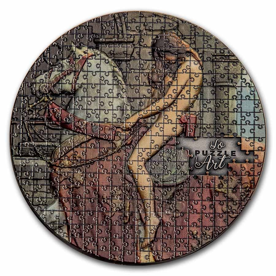 2020 Cameroon 3 oz Silver So Puzzle Art: Lady Godiva