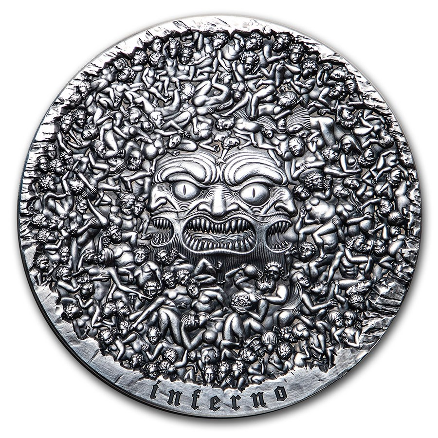 2020 Cameroon 5 oz Silver 700th Anniversary The Divine Comedy