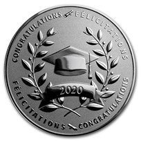 2020 Canada 1/2 oz Silver $10 Graduation Proof