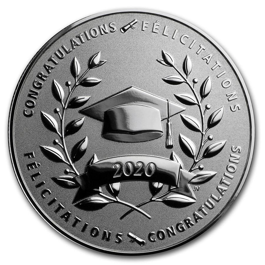 2020 Canada 1/2 oz Silver $10 Graduation Proof