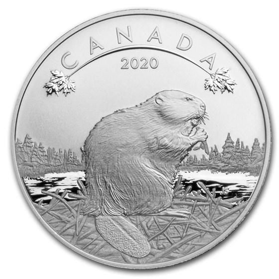 2020 Canada 1/2 oz Silver $10 O'Canada! Beaver