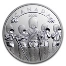 2020 Canada 1/2 oz Silver $10 O'Canada! Changing of the Guard