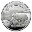 2020 Canada 1/2 oz Silver $10 O'Canada! Polar Bears