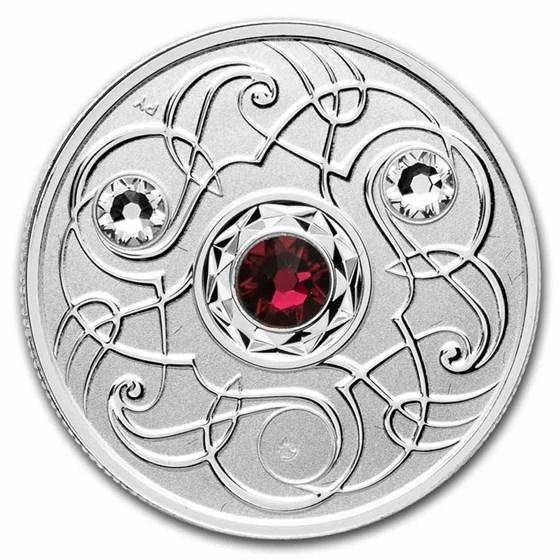 2020 Canada 1/4 oz Silver $5 Birthstones: July (Damaged)