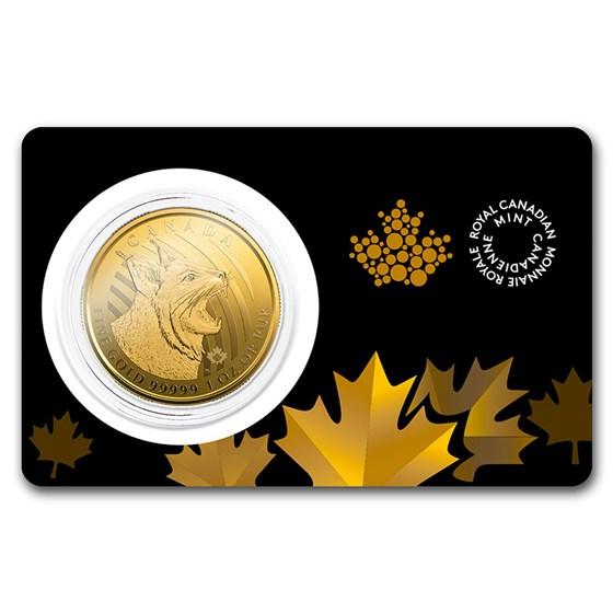 2020 Canada 1 oz Gold Bobcat .99999 BU (Assay Card)
