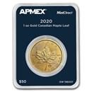 2020 Canada 1 oz Gold Maple Leaf (MintDirect® Single)