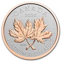 2020 Canada 1 oz Platinum $300 Maple Leaf Forever