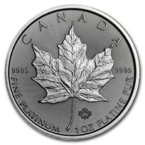 2020 Canada 1 oz Platinum Maple Leaf BU