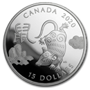 2020 Canada 1 oz Proof Silver $15 Lunar Year of the Rat