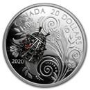 2020 Canada 1 oz Silver $20 Bejeweled Bugs: Ladybug