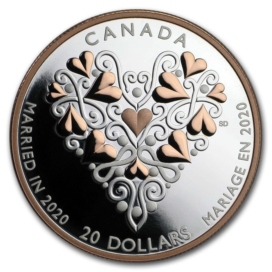 2020 Canada 1 oz Silver $20 Best Wishes on Your Wedding Day