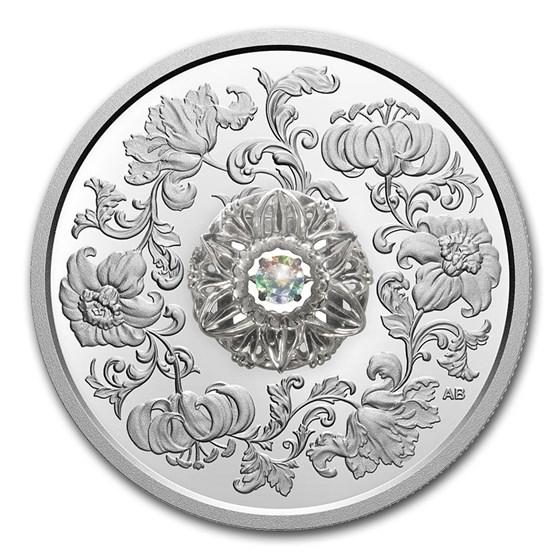 2020 Canada 1 oz Silver $20 Sparkle of the Heart Dancing Diamond