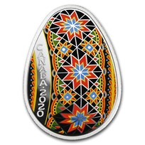 2020 Canada 1 oz Silver $20 Traditional Pysanka