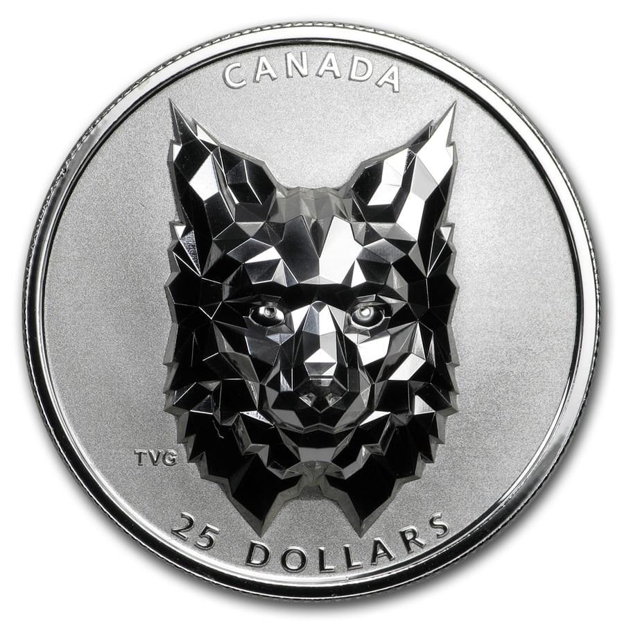 2020 Canada 1 oz Silver $25 Multifaceted Animal Head: Lynx