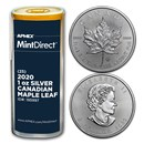 2020 Canada 1 oz Silver Maple Leaf (25-Coin MintDirect® Tube)